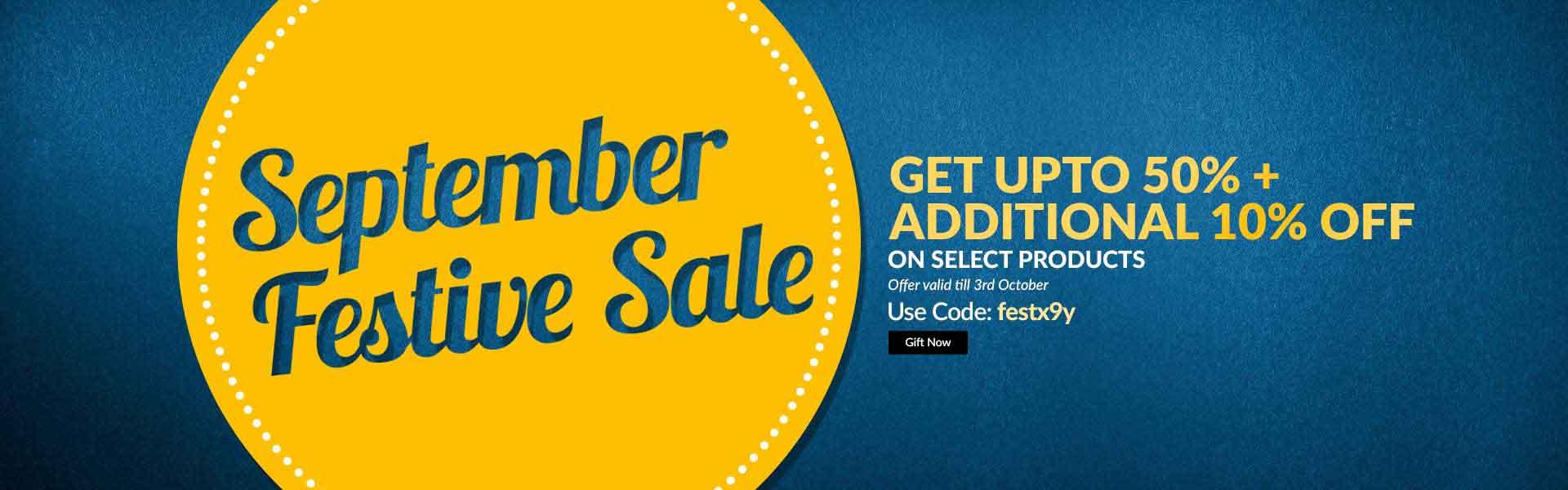 September Month End Sale